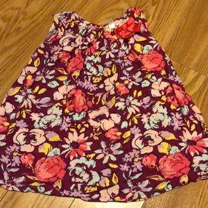 Cherokee for Target floral plum dress 4T toddler